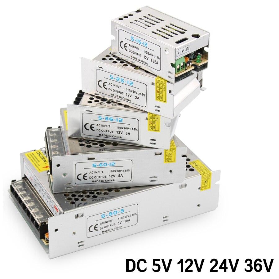 Импульсный источник питания AC-DC 220 В в 5 в 12 В 24 в источник питания 5 в 12 В 24 в 36 в 1A 2A 3a 5A 10A 15A 220 В в 5 12 24 В трансформатор