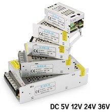 Przełączania zasilania AC-DC 220V do 5V 12V 24 V zasilania 5V 12V 24 V 36V 1A 2A 3A 5A 10A 15A 220V do 5 12 24 V transformator