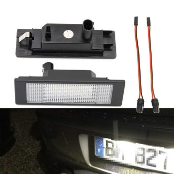 2x LED License Number Plate Light For Mini R55 R55N R60 R61 Canbus Car Auto Led Tail Lamp 2x auto light for 03 18 dodge ram 1500 2500 3500 smoke lens led number license plate light kit canbus error free car styling