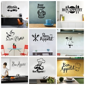 Image 4 - 22 Styles Large Kitchen Wall Stickers Home Decor Decals Vinyl Sticker for House Decoration Accessories Mural Wallpaper Poster