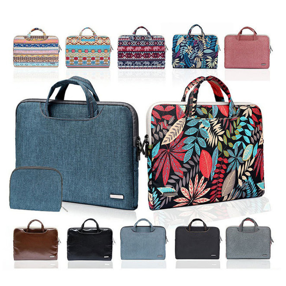 Unisex Business Women Laptop Bag Notebook Carrying Case Briefcase for Macbook Air 13.3 14 15.6 in Casual Handbags Mouse Bag