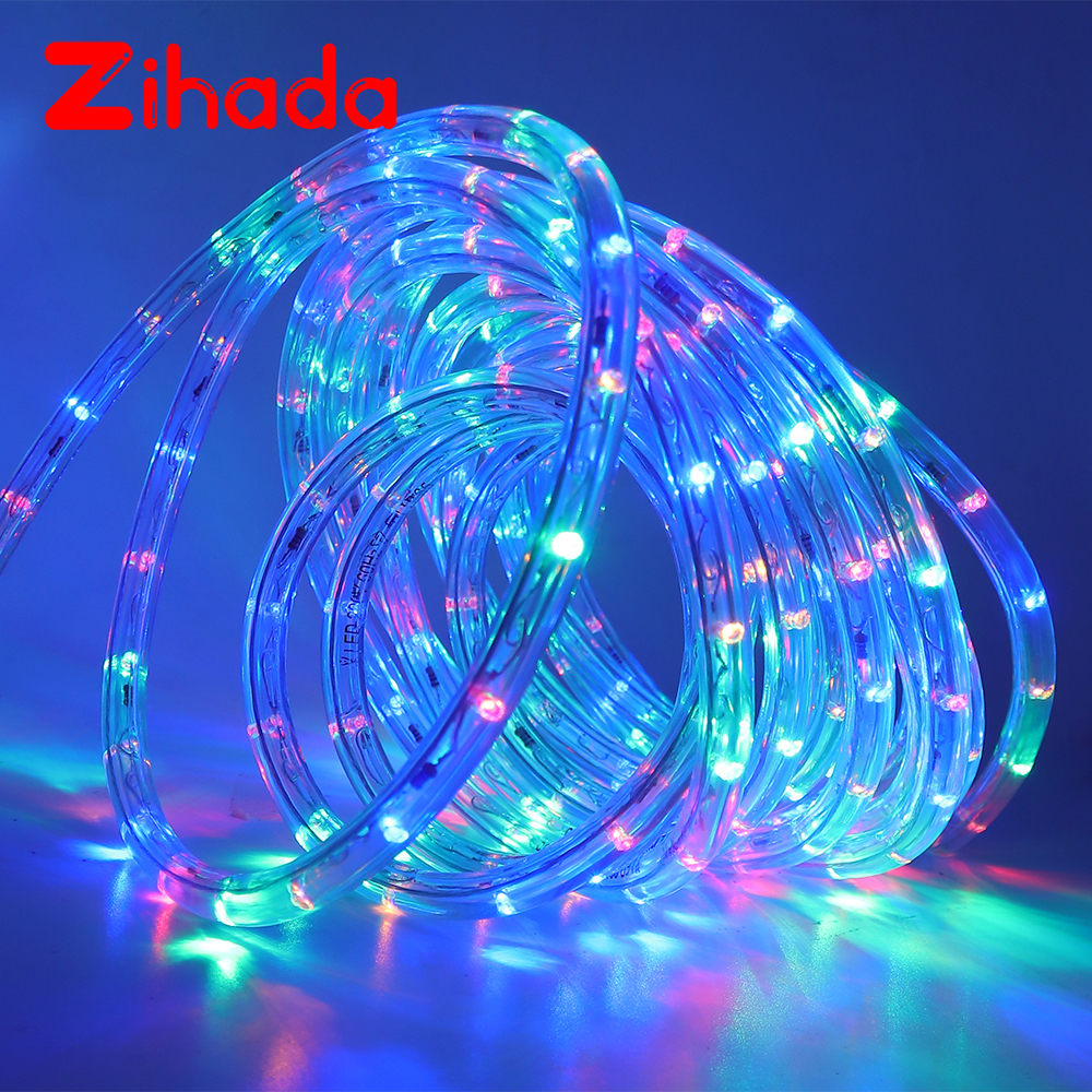 AC220V Neon Strip LED Strip Waterproof Neon Sign LED Light Christmas Party Decoration Outdoor Rainbow Tube Rope Light Led Strip