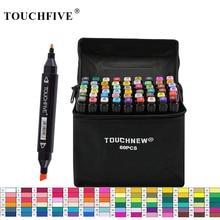 TouchFIVE 30/40/60/80 Colors Art Markers Alcohol Based Markers Drawing Pen Set Manga Dual Headed Art Sketch Marker Design Pens