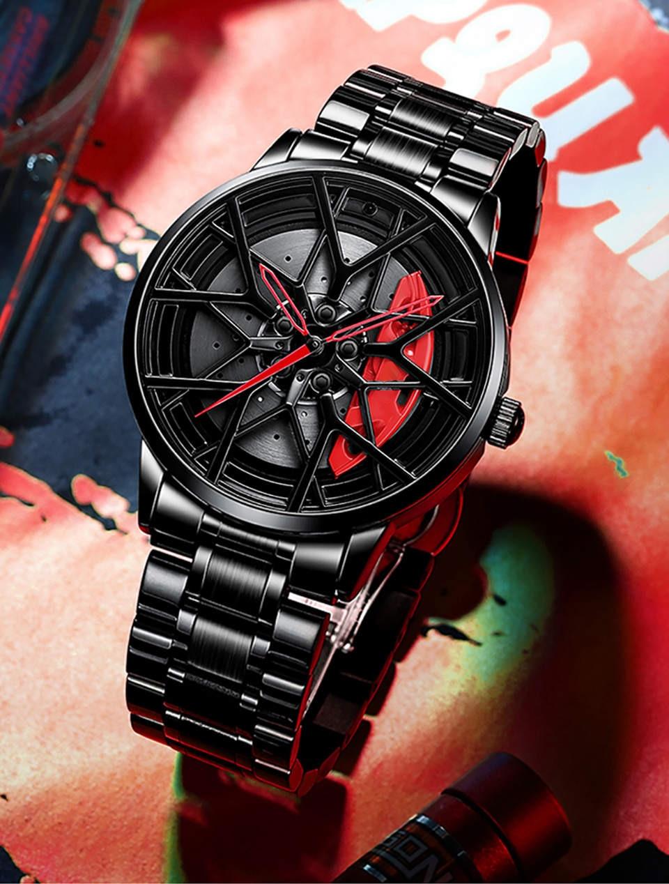 Hb8369637e94647888a4d78f36b8a122bo NIBOSI 2020 Car Rim Hub Wheel Watch Custom Design