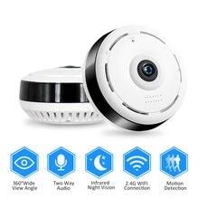 HD 960P واي فاي IP كاميرا أمنة للبيت اللاسلكية 360 درجة بانورامية كاميرا تلفزيونات الدوائر المغلقة للرؤية الليلية عين سمكة عدسة VR Cam