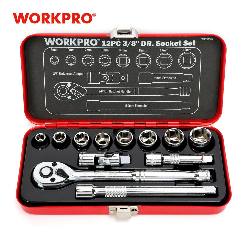 WORKPRO 12PC Home Repair Tool Set 3/8