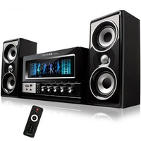 Manufacturer's direct sales of Bluetooth speaker, karaoke TV wood speaker Home audio 2.1 multimedia computer speaker Xmas gift