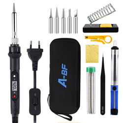 A-BF 836D Soldering Iron Kit Set 60W Digital LCD Switch Welding Iron Temperature Adjustable Electric Tools Soldering Tips