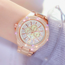 Rose Gold Classic Watch Woman Stainless Steel Female Ladies
