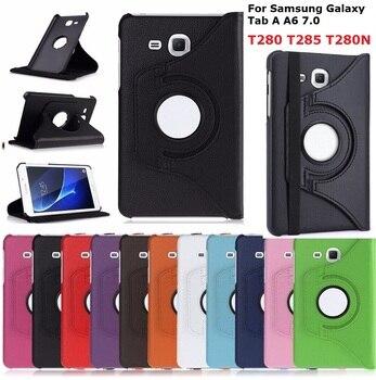 Чехол с функцией поворота на 360 градусов для Samsung Galaxy Tab A A6 7,0 2016 дюйма, чехол для телефона 360 дюйма, умный чехол из искусственной кожи для Samsung T280 T285, чехол