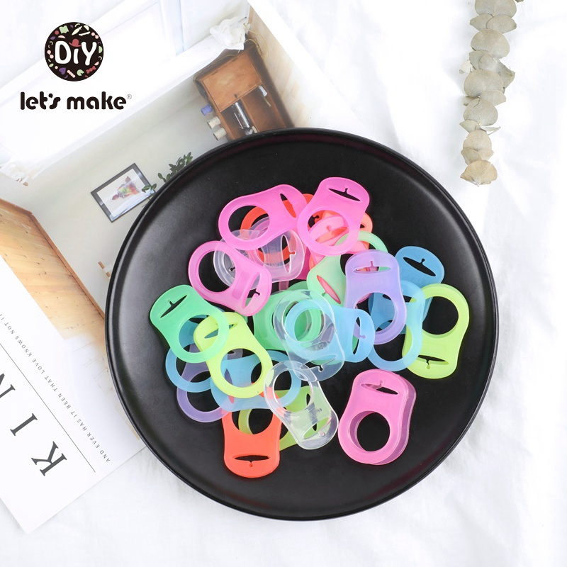 Let's Make 10PCS Food Grade Silicone Baby Pacifier Mam Dummy Chain Holder Pacifier Clip Colorful BPA Free Nurse Baby Teethers