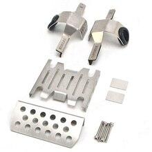 Vendita al dettaglio anteriore in metallo telaio centrale armatura piastra paramotore protezioni parte di aggiornamento per 1/8 RC modello di auto trazione HOBBY KM2 TH2 parti