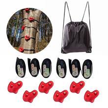 Скалолазание набор для детей на открытом воздухе дерево лазание Ноги Держатель дети физическая тренировка аксессуары фитнес игрушка скалолазание тренировщик