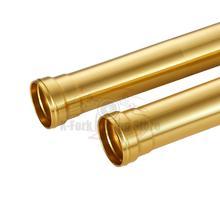 Tubes extérieurs dorés pour fourche, pour BMW HP4 2011 2014 R nineT 1200 2015 S1000R 2013 2016 S1000RR 2008 2018, 12, 15, 16, 17, 490m