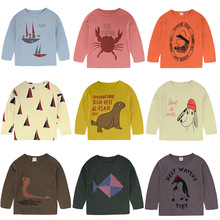 Top T Shirt For Boy Animal Printing Children Boys T Shirt Autumn Kids Tshirt Cotton Girls Long Sleeve Tops Cartoon Toddler Shirt цены