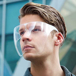 HD Transparent Face Shield Anti-Splash Head-Mounted Glasses for Eyes Face Protection Mask Replacement