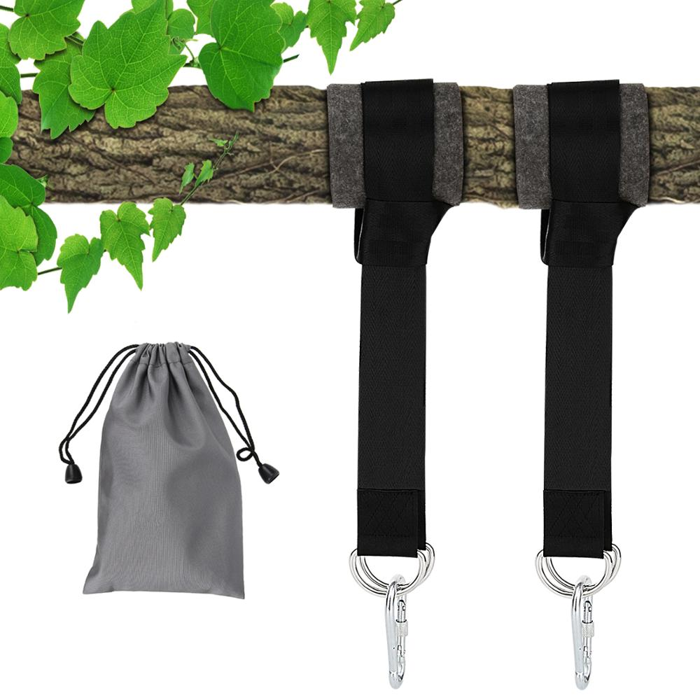 MoKo Tree Swing Hanging Straps Kit, Two Hammock Hanging Straps Hold 2000lbs 5ft Long Strap With Heavy Duty Carabiners Easy Fast