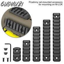 Novo m-lok picatinny ferroviário tático 21mm rifle escopo montar trilhos de alumínio seção adaptador 5 7 9 11 13 slots mlok sistema ferroviário lateral