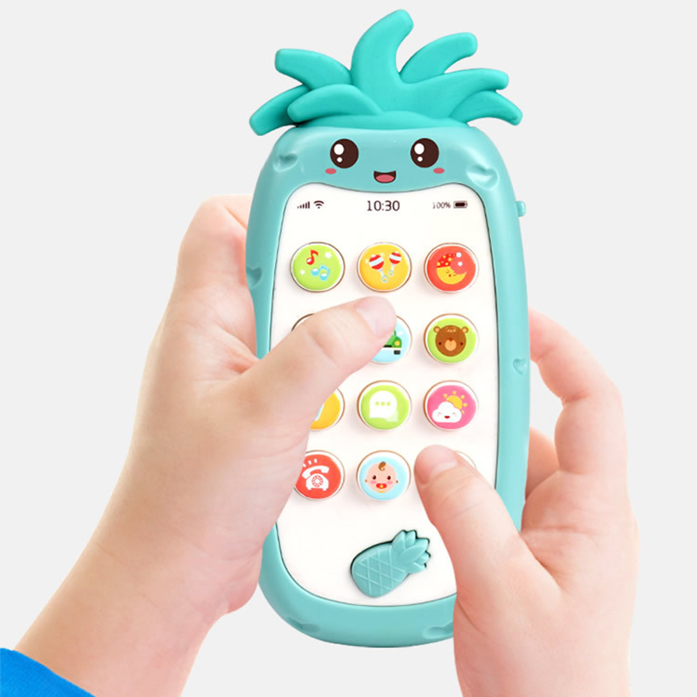 Baby Phone Toy Cartoon Mobile Phone For Kids Telephone Toy Enfant Early Educational Mobile Toy Chinese/English Learning Machine
