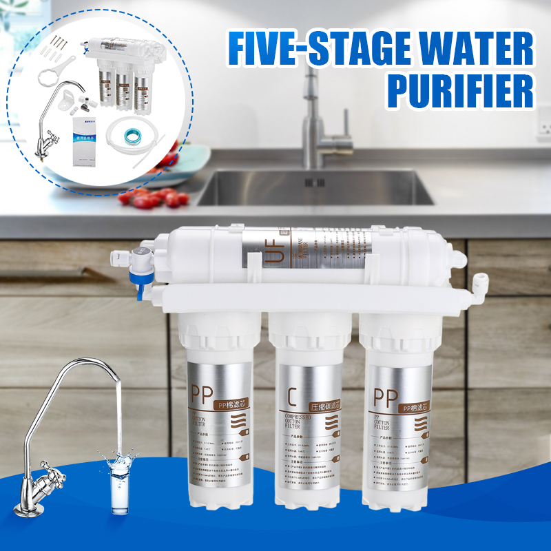 New 3+2 Ultrafiltration Drinking Water Filter System Home Kitchen Water Purifier With Faucet Tap Water Filter Cartridge Kits