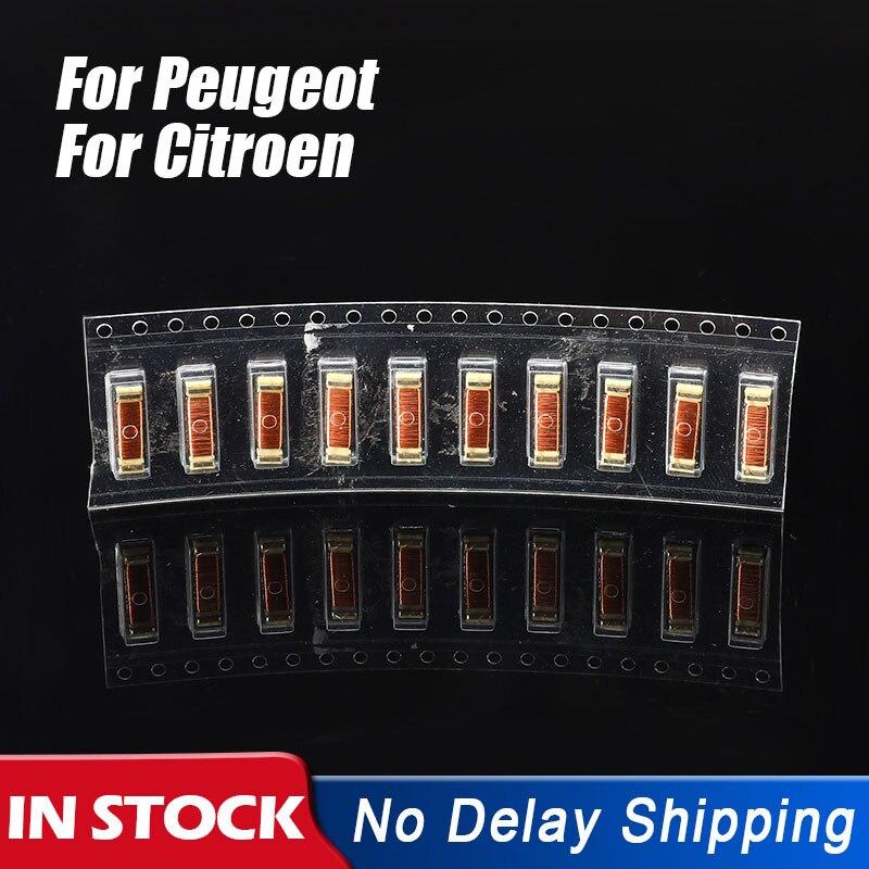 10 Pçs/set 2.38MH 680P Chip de Carro Chave Remoto Reparação Transformador Indutância Bobinas Acessórios Para Peugeot/Citroen