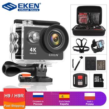 EKEN H9R H9 kamera akcji Ultra HD 4K 30fps WiFi 2 0 cala 170D podwodny wodoodporny kask kamery do nagrywania wideo kamera sportowa tanie i dobre opinie Seria OmniVision SPCA6350M (1080 P 60FPS) Rohs O 5MP CN (pochodzenie) 1050mah 1 2 8 cali Outdoor Sport Activities Nie stabilizacja obrazu