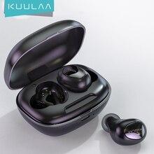 KUULAA TWS بلوتوث سماعات لاسلكية سماعات بلوتوث 5.0 يدوي سماعة الألعاب بلوتوث سماعة في الأذن واقي أذن رياضي