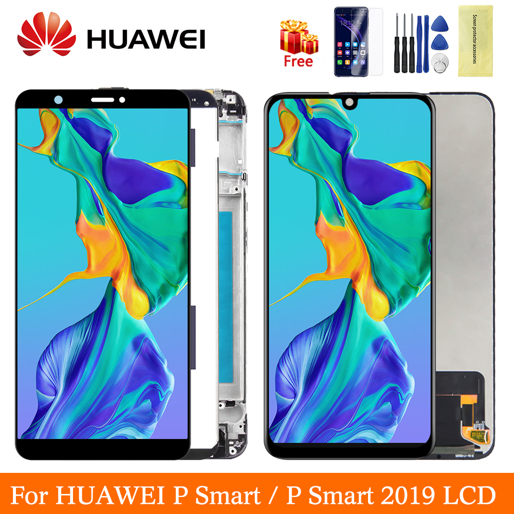 Original For Huawei P Smart Display For Huawei P Smart 2019 LCD Screen With Frame Digitizer Assembly P9 Smart 2019 Display