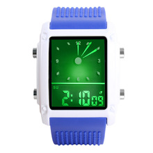 Cheap Square Watch Fashion Led Digital Watches LED Colorful Back Light Glow Watches Electronic Watches Men Women Sports Watches cheap WOONUN Stainless Steel 24cm 3Bar Buckle Rectangle 23mm 13mm Hardlex LED display Auto Date Complete Calendar Water Resistant