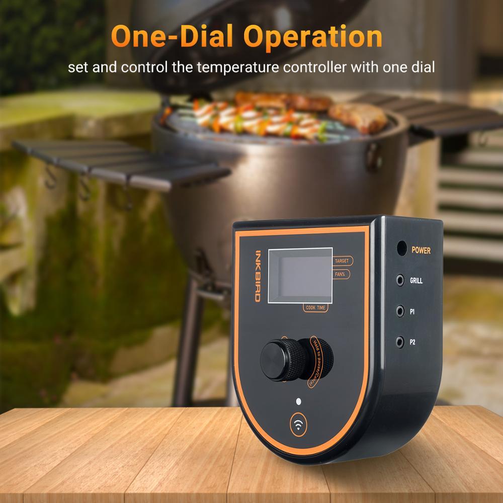 Inkbird ISC-007BW печь Температура контроллер WI-FI/BT подключения для большое зеленое яйцо камадо Джо Weber Primo устойчивы к 120V-220V
