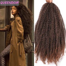 Soft Afro Kinky Curly Ombre Marley Braiding Hair Extensions for Braids Natural Synthetic Crochet Braids Hair Bulk Blonde Brown