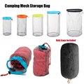 1Pc S ~ XXL Mesh Lagerung Taschen Ultraleicht Hohe Qualität Outdoor Zeug Sack Kordelzug Reisen Organizer Wandern Camping Zubehör