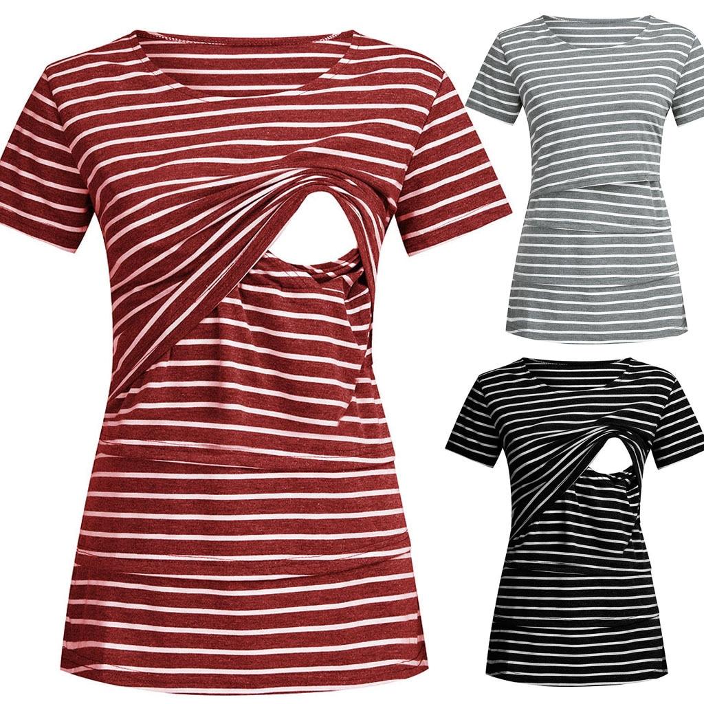 Mode Zwangerschap Moederschap Kleding Moederschap Tops/T-shirt Borstvoeding Shirt Borstvoeding Tops Voor Zwangere Vrouwen