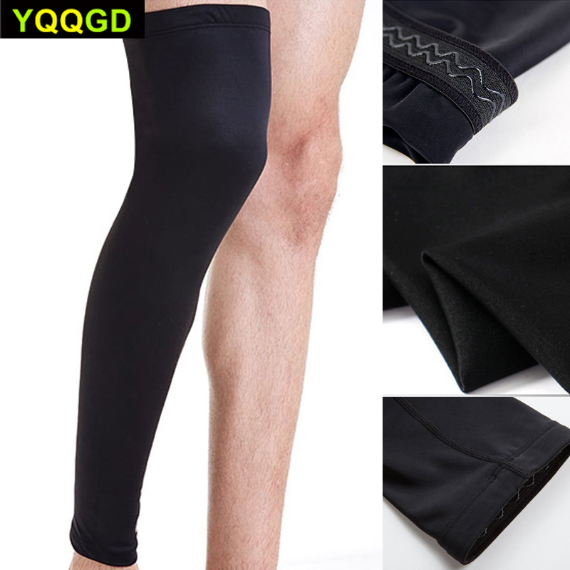 1Pcs Leg Compression Sleeve  Men Youth Basketball - Sports Footless Calf Compression Socks Knee Brace Support Helps Arthritis