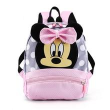 Disney Mickey mouse Children's School Bag Kindergarten Boy Girl Baby Backpack Minnie Cute Plush Bag Anime Backpack Kid's Gifts