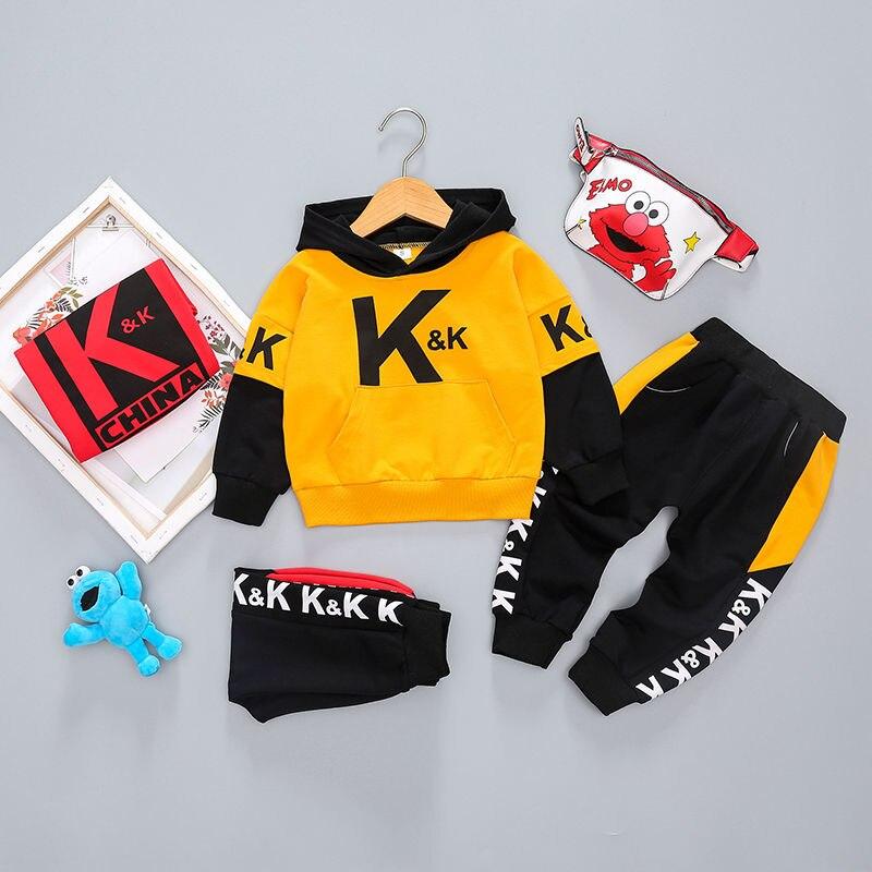 esportes hoodies camisola calças 2 pçs sets 0-4 anos