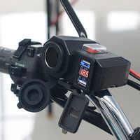 Motorrad USB Ladegerät 12 V/24 V Telefon Ladegerät Buchse Dual USB Moto Ladegerät LED Voltmeter Wasserdicht