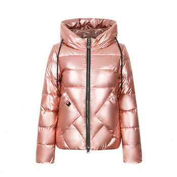 Winter Short Down Jacket Coat Women Coats Cotton Padded Jackets Fashion New Year Outerwear Warmness Zipper Snow Basic Overcoat elf sack winter velvet embroidery zipper women padded coats straight plus size appliques fashion plaid womens cotton jackets