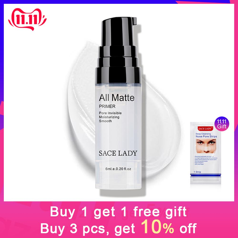 SACE LADY Face Base Primer Makeup Liquid Matte Make Up Fine Lines Oil-control Facial Cream Brighten Foundation Primer Cosmetic