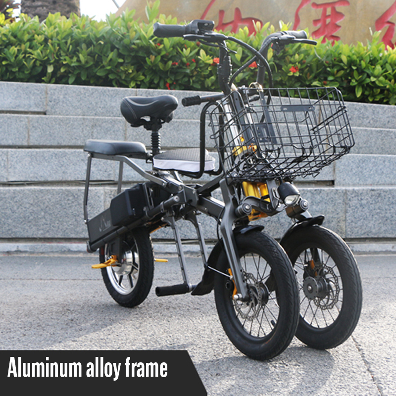 JX003 High speed electric bike 350w 48V 3 wheel foldable electric bicycle e scooter 10