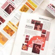 Jianwu 60mm * 3m fresco diário diy decoração fita adesivos diário mascaramento colagem scrapbook material papel papelaria embrulho