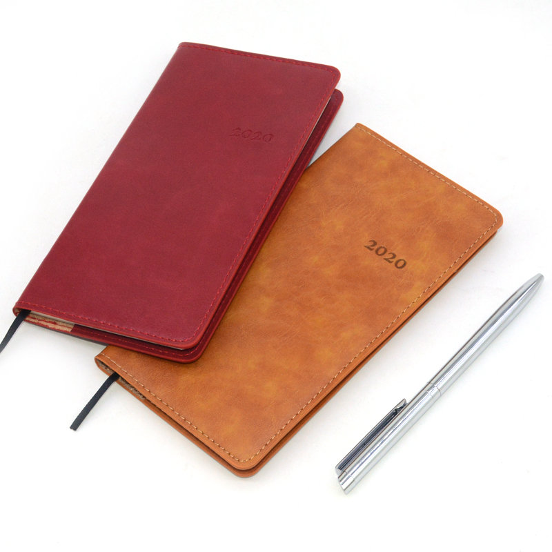 Agenda 2020 Notebook Planner Leather Diary Caderno Journal Pocket Note Book Diario Calendar Weekly Notebooks Papelaria Notepad