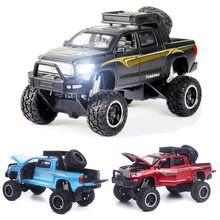 1:32 toyota tundra modelo de carro liga carro de brinquedo fundido modelo de carro puxar para trás brinquedo das crianças collectibles frete grátis