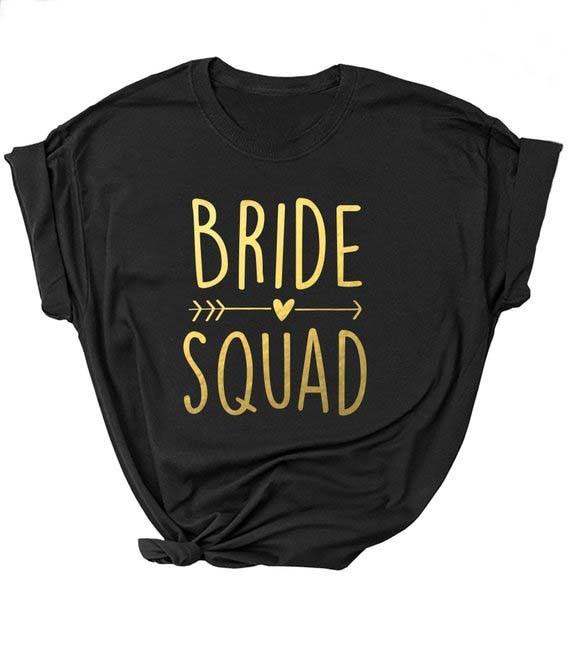 Черный подходит девичник невесты Вечерние унисекс», Очаровательная белая рубашка для отряд