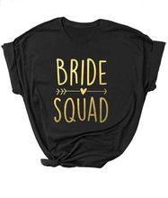 Preto ajuste festa de noiva festa de noiva unissex camisa do esquadrão da noiva seta coração camiseta feminino slogan das mulheres topos menina camisetas casal
