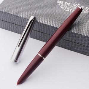 Image 2 - Haute qualité luxe HERO 100 stylo plume coffret cadeau classique calligraphie 14K or encre stylo école bureau écriture fournitures