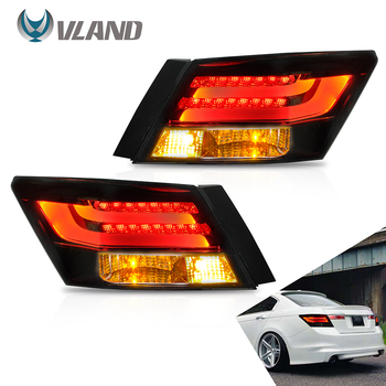 VLAND Tail lights Assembly for Honda Accord 2008-2013 Taillight Tail Lamp with Turn Signal Reverse Lights LED DRL light