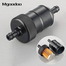 Универсальный бензиновый топливный фильтр 8 мм, очиститель с ЧПУ алюминия для мотоцикла, питбайка, квадроцикла, квадроцикла, встроенный топ...