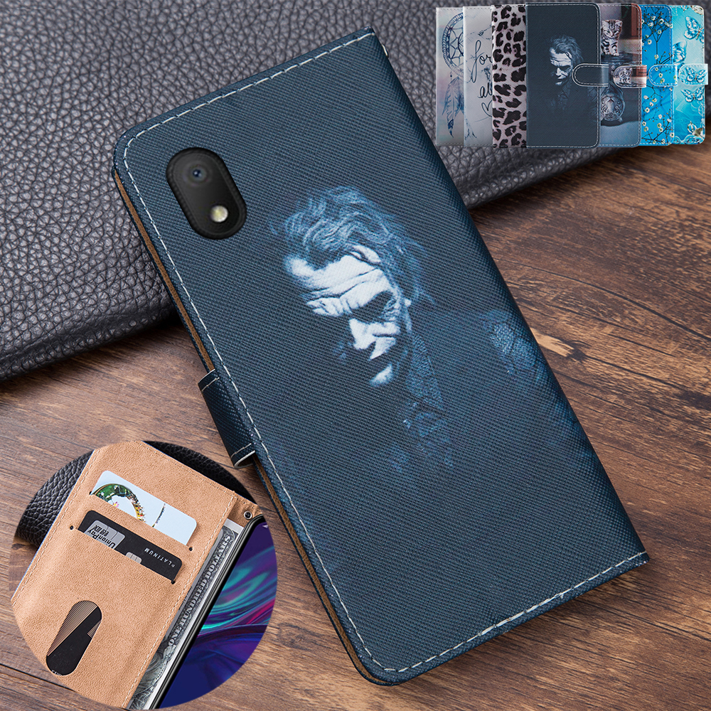 3D Embossing Clown Leather Flip Book Style Cover For Alcatel 1B 2020 Case Phone Bag Card Case For Alcatel 1 B 5002D 5002A Shell