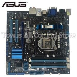 Оригинальная материнская плата ASUS 1156 PRO, LGA DDR3 для i3 i5 i7 cpu 16 Гб USB2.0 H55, б/у, для настольных ПК